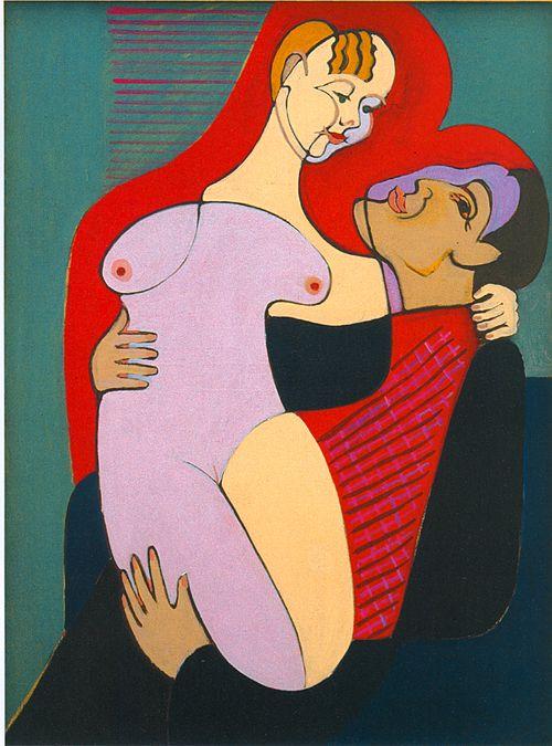 Ernst Ludwig Kirchner Great Lovers (Mr and Miss Hembus) 1930, oil on canvas, Kirchner Museum, Davos, Switzerland