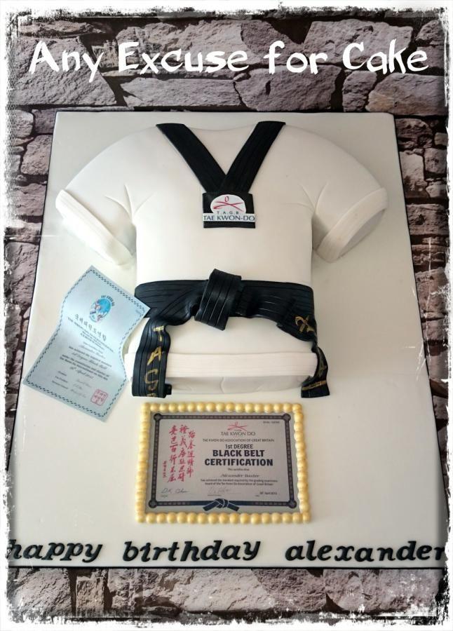 Taekwondo Black Belt Cake By Any Excuse For Cake With Images