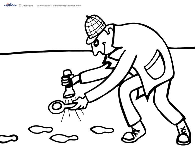 Printable Spy Detective Coloring Page 5 (With images