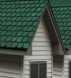 Shingles red and green old house web houses - Exterior paint colors with green metal roof ...