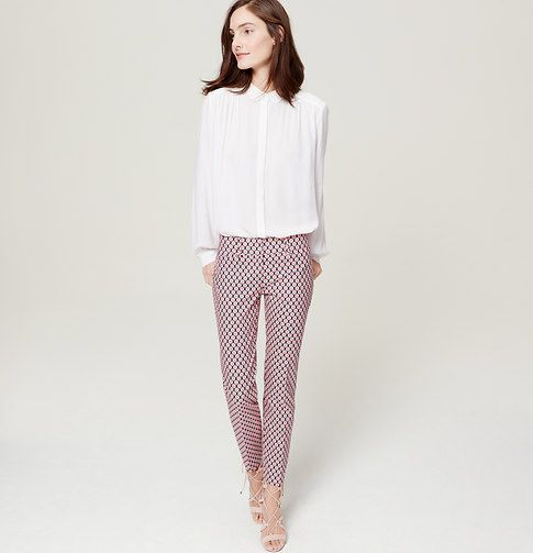 """Because sunny style should always be easy, our Riviera pants make every day a getaway. Your perfect fit if your hips are proportionate to your waist. Zip fly with hook-and-bar closure. Belt loops. Front and back welt pockets. Slits at outer cuffs. 29"""" inseam."""