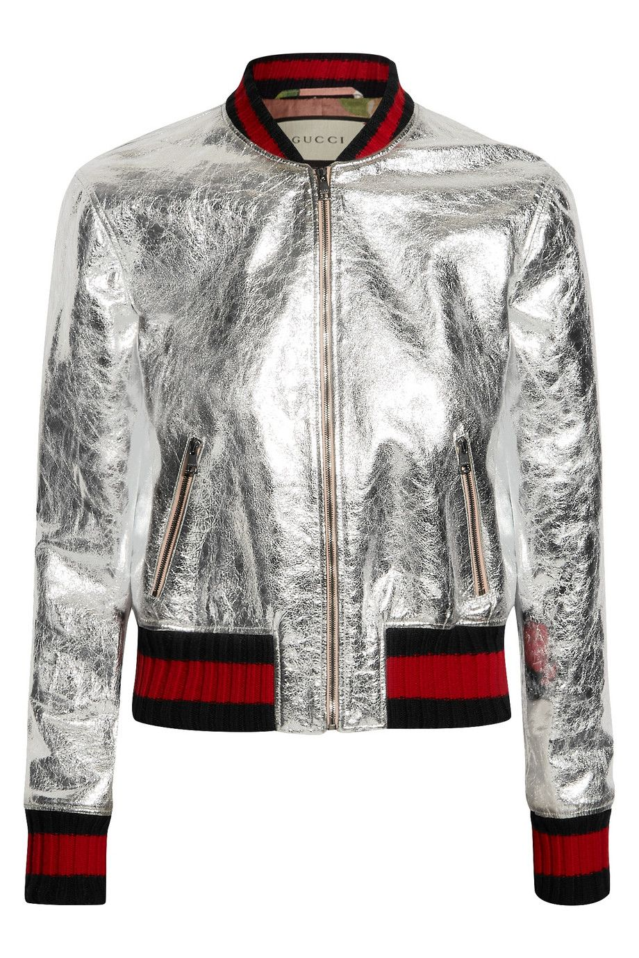 7b21baae4 Gucci - Metallic leather bomber jacket | Camperas Cuero | Moda, Ropa ...