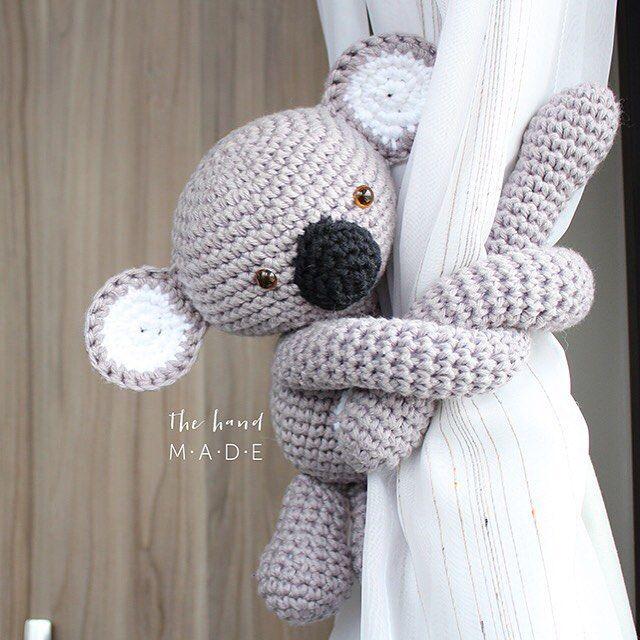 Koala tie back curtain coala de segurar cortina . made by helena ...