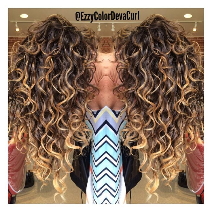 Balayage On Curly Hair Hair In 2018 Pinterest Curly Hair