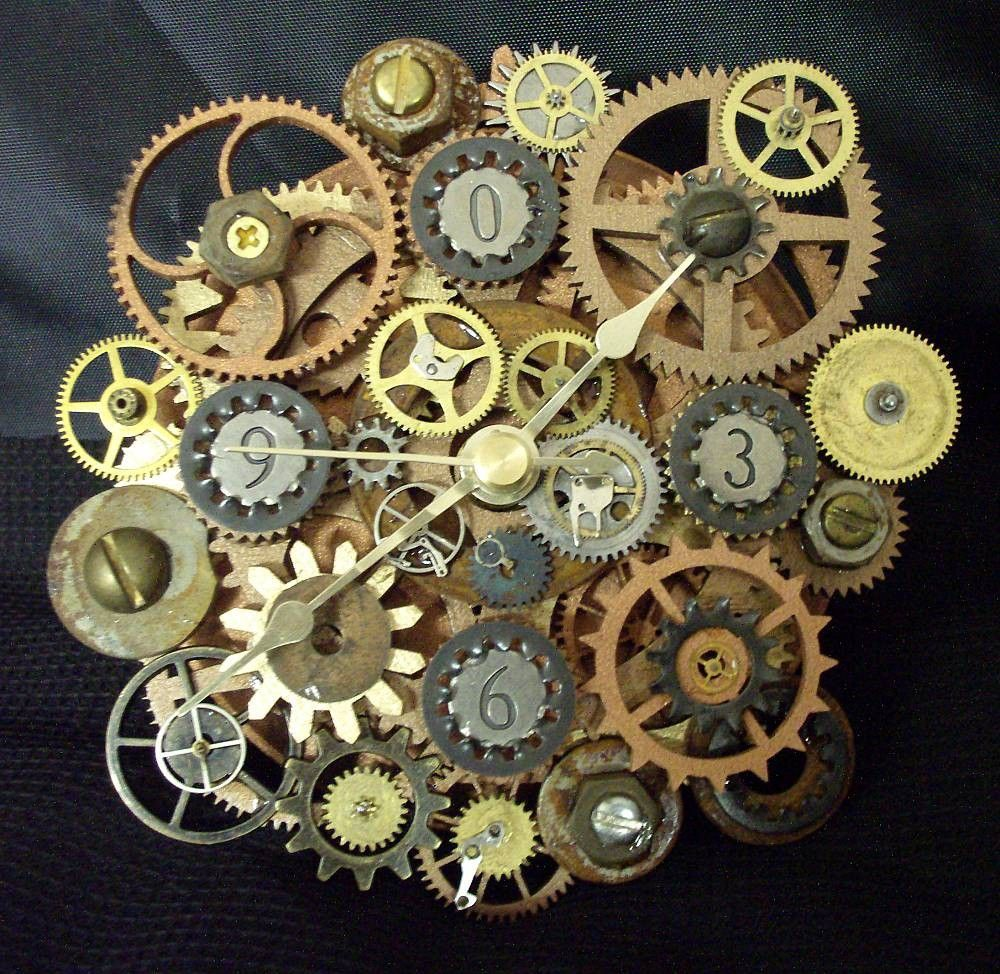 Gears gears if you like this check out my industrial for Art sites like etsy