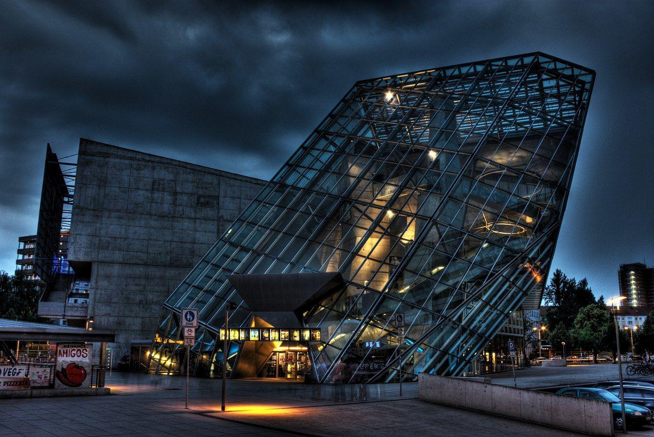 Cinema Center ufa cinema center dresden germany deconstructivist architecture