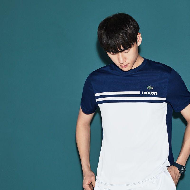 Men S Sport Pique Tennis T Shirt Sport Shirt Design Polo Shirt Design Lacoste Sport
