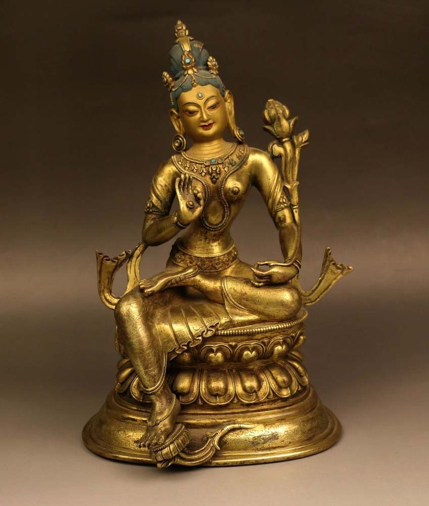 Tibet Tibetan shakyamuni bronze buddha antique excellent old bronze statue