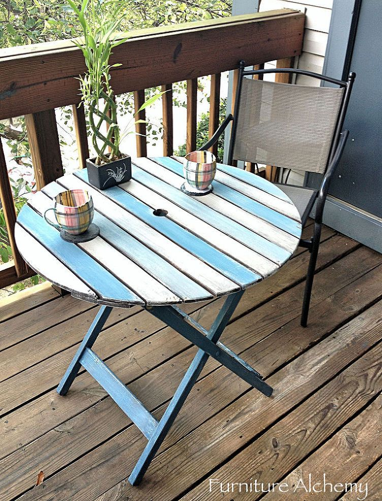 Using Patio Furniture Indoors: Patio Table Chalk Paint Makeover