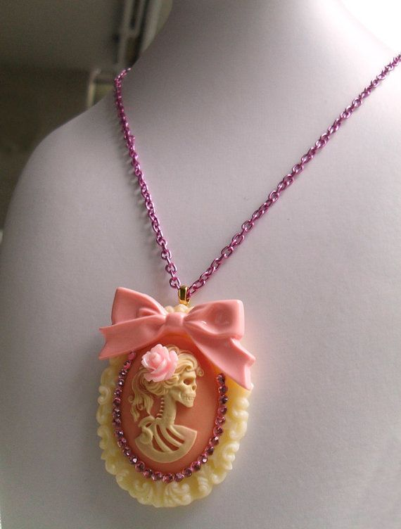 Kitschy Cute Gothic Lolita Necklace  Death by by EverythingP1NK, $21.90