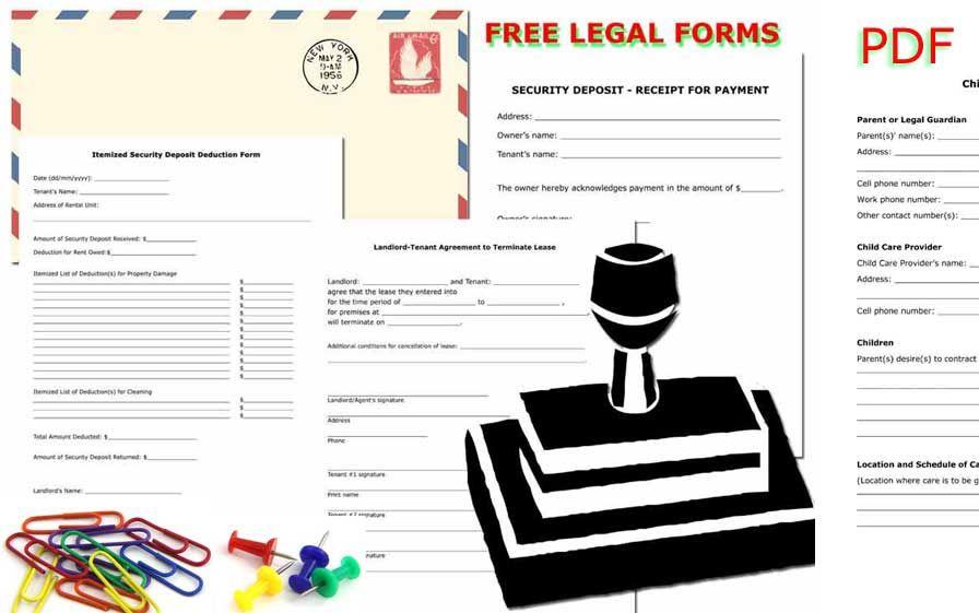 Free Printable Legal Forms Tenant Landlord Agreement Longshort