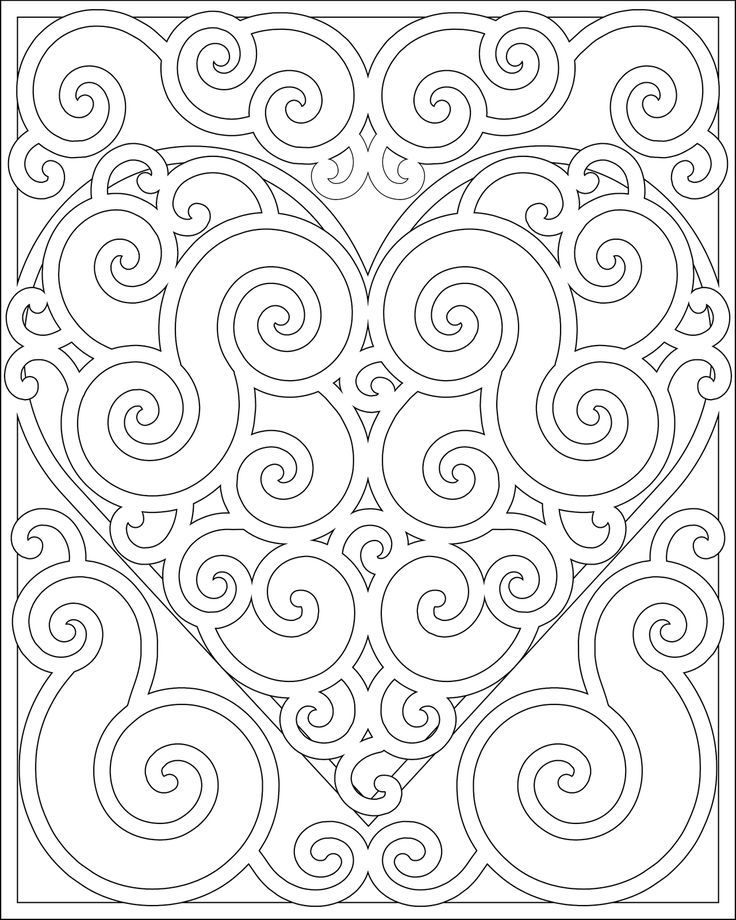Pages de coloriage Mandala coeur 5211 coloriage à imprimer | Keep ...