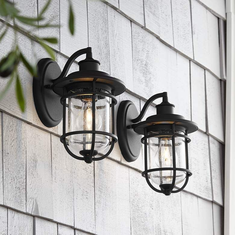 lamps plus black outdoor wall lights