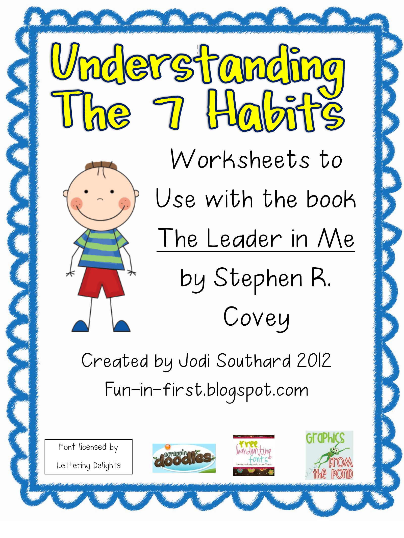 worksheet Leader In Me Worksheets page 1 of 15 homeschooling pinterest school counselling and fun in first grade 7 habits highly effective people worksheets to use with the book leader me stephen r