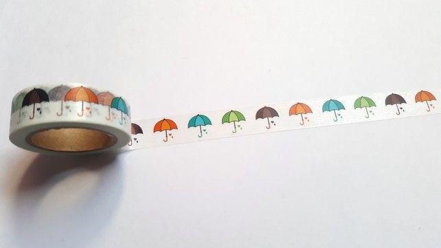 Washi Tape 15mm X 10m Art Supplies Umbrellas
