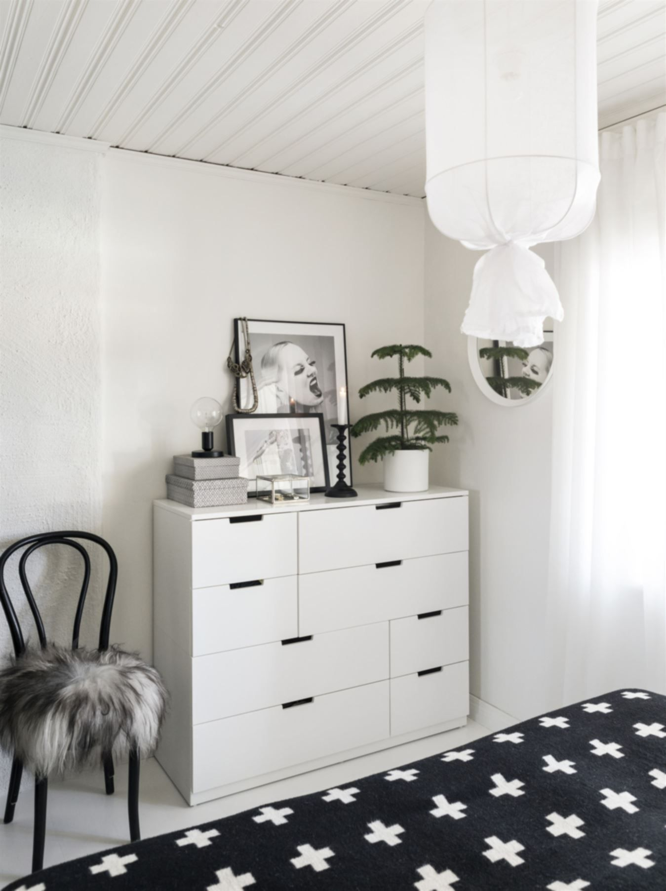 ikea 39 nordli 39 dresser in bedroom h o m e pinterest skandinavisch wohnen wg zimmer und. Black Bedroom Furniture Sets. Home Design Ideas