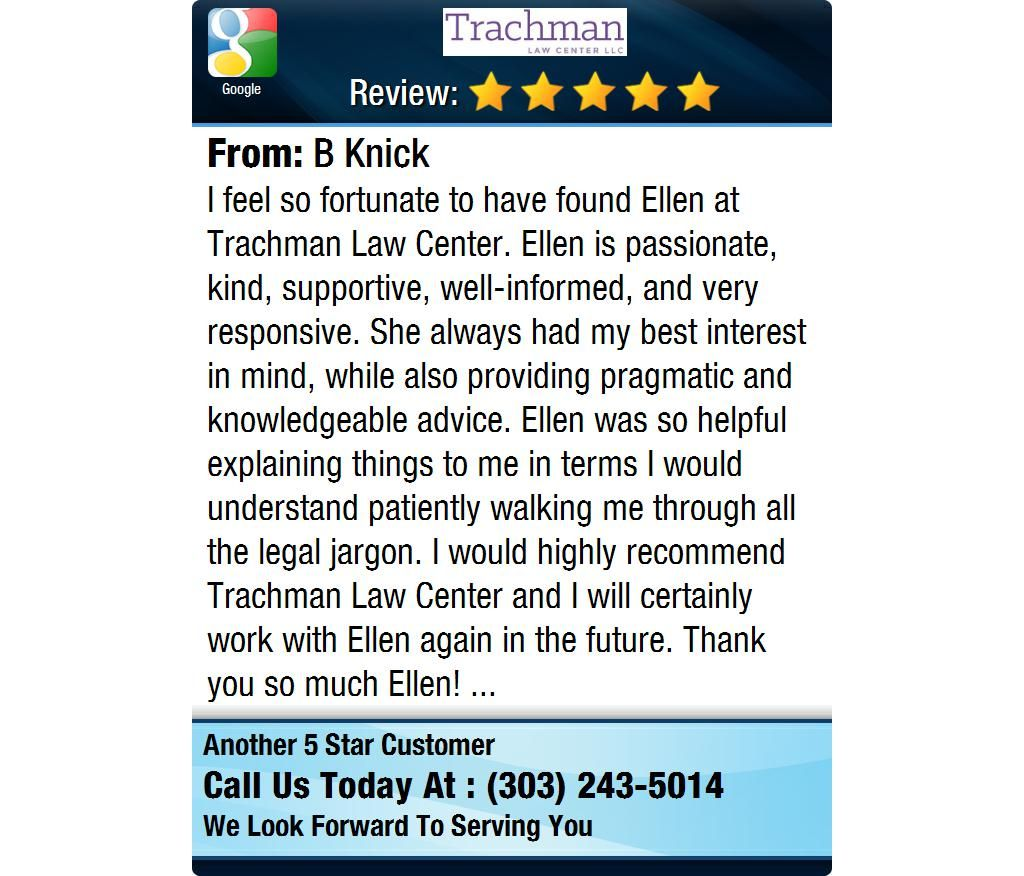 I feel so fortunate to have found Ellen Trachman Law