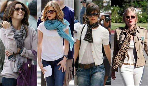 diversas maneiras de se usar lenço, echarpe, cordão - Pesquisa Google