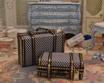 Set of Luggage 1:12th Scale Miniature Dollhouse by WestonMiniature
