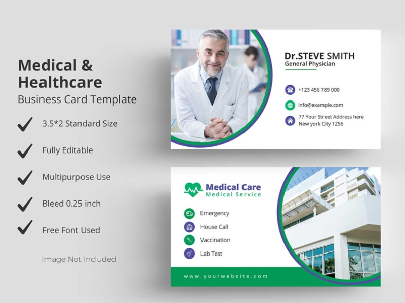 Medical Healthcare Business Card Template Medical Business Card Medical Business Healthcare Business