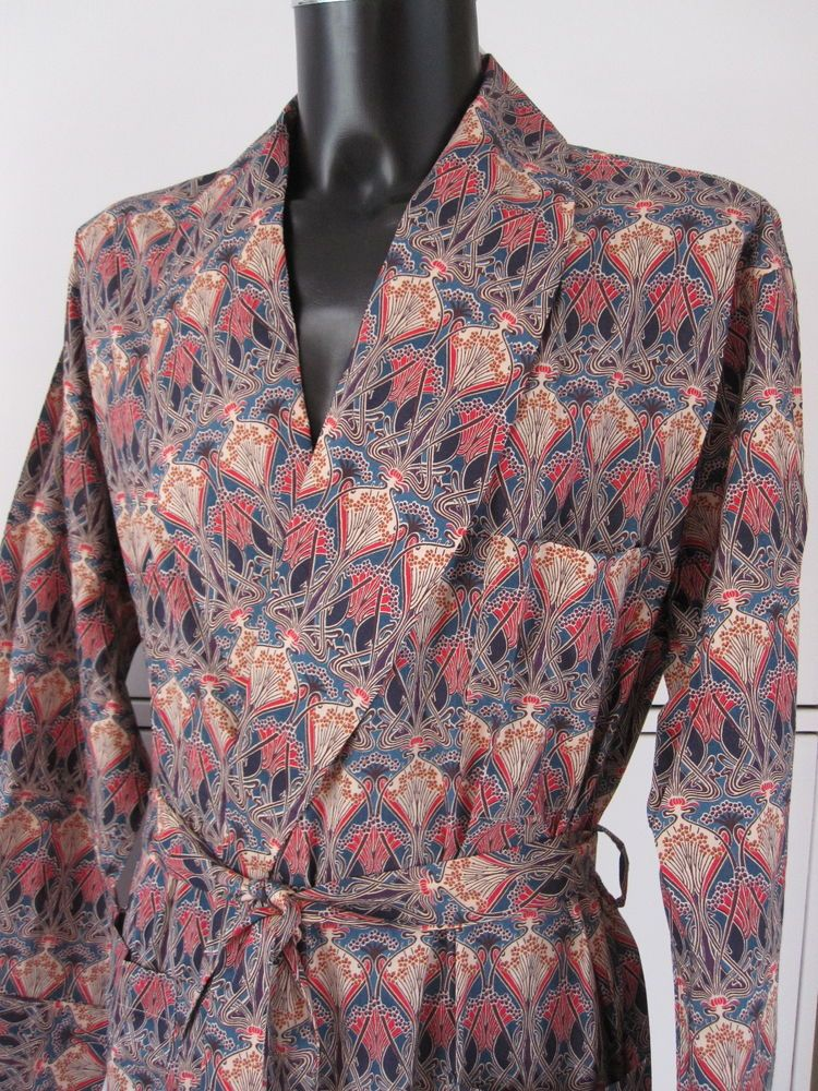 New Liberty of London, Tana Lawn, Ianthe print Dressing gown Size ...