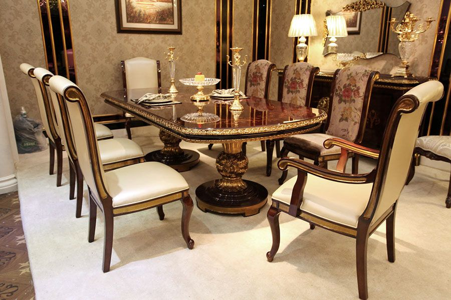 Superior Royal Antique Italian Style Dining Room Furniture Made From Beech Wood