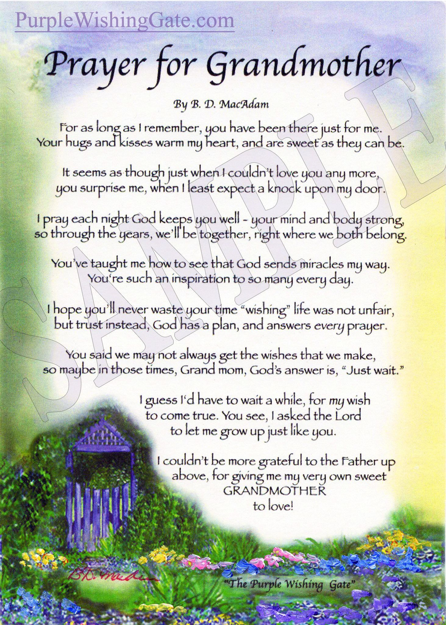 A Blessing For My Grandmother Quotes Prayers Sayings Quotes