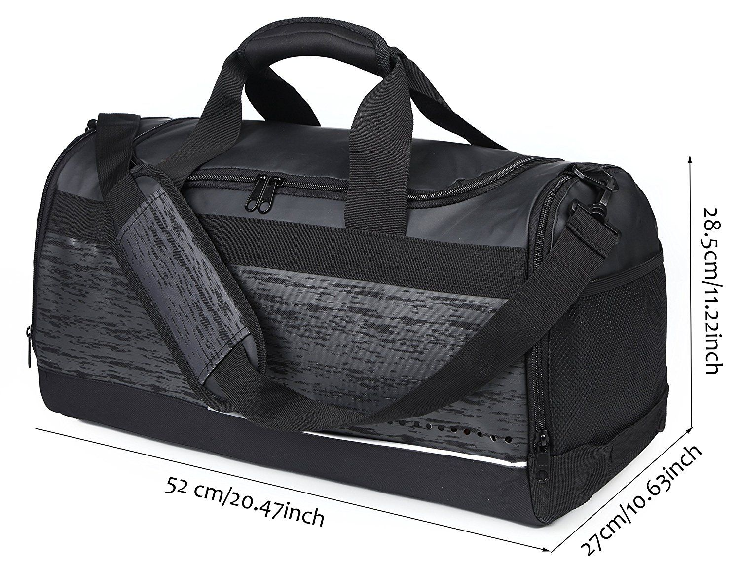 2d0b1c0602a MIER Mens Holdall Gym Bag Sports Duffel Bag with Shoes Compartment for  Weekender, Overnight,