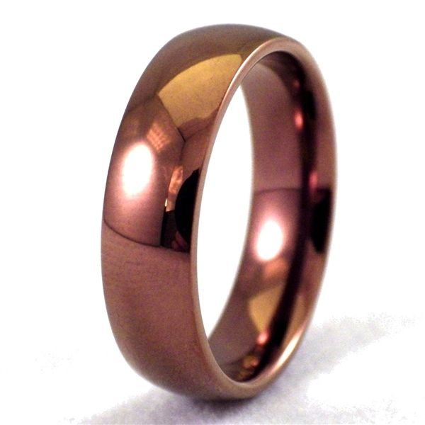 Coffee Color Ring Simple Copper Wedding Band Copper Wedding Band