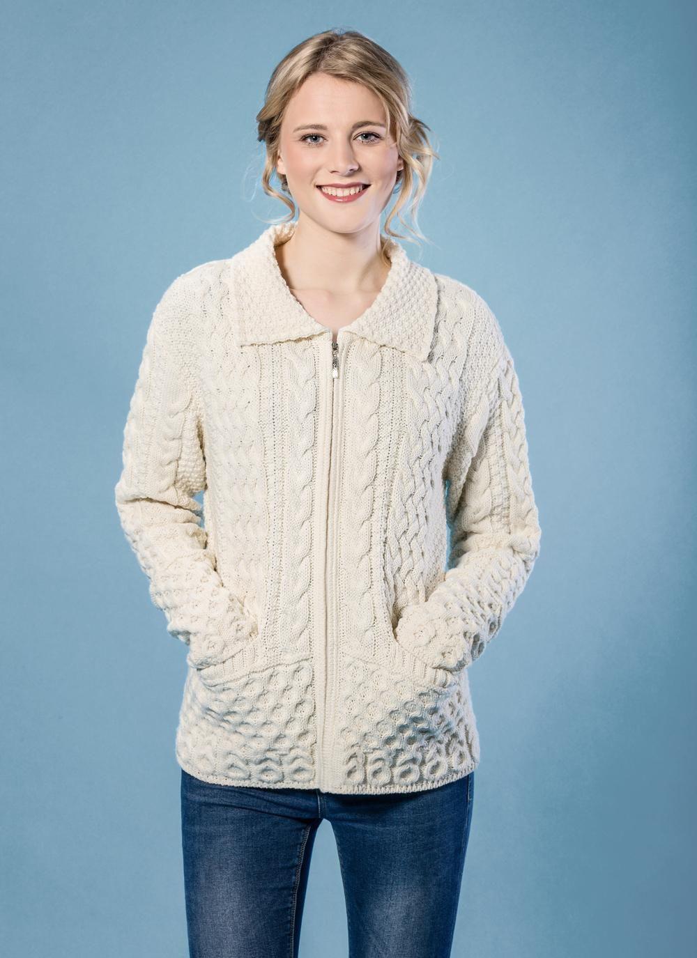 Grace Zip Aran Sweater | Autumn Days | Pinterest | Aran sweaters ...