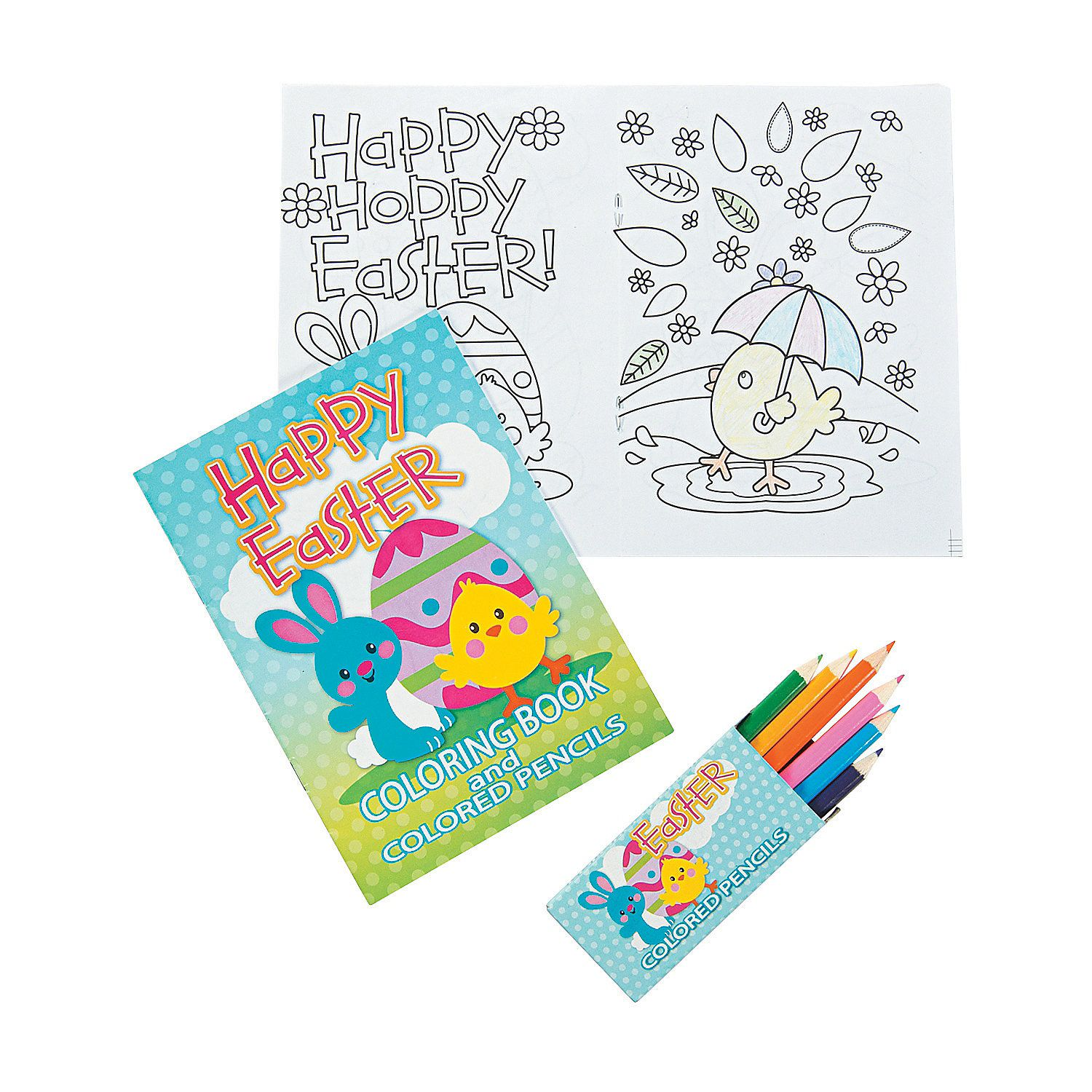 Easter Coloring Books With Colored Pencils Oriental Trading Easter Coloring Book Easter Colouring Easter Books