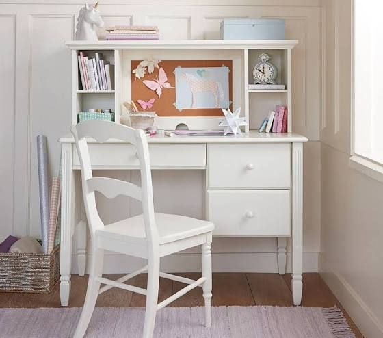 White Girls Desk Home Decor Bedroom Desk Storage White