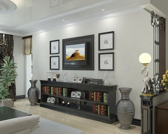 Living Room Tv Console Design Pictures Remodel Decor And Ideas