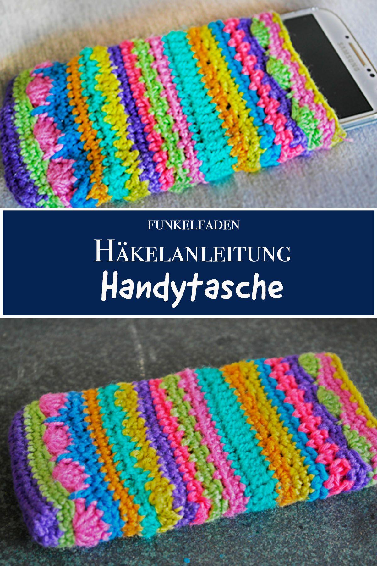 Kunterbunte gehäkelte Handytasche › Anleitungen, Do it yourself ...