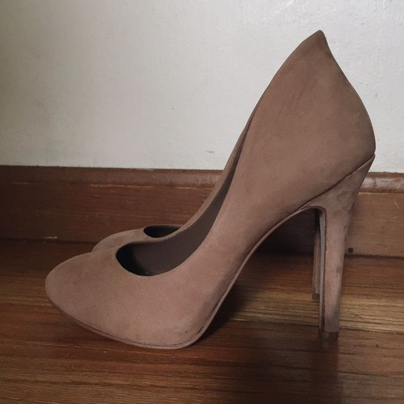 BCBGeneration Nude Suede Pumps | Tan heels, Shoes heels and Pumps