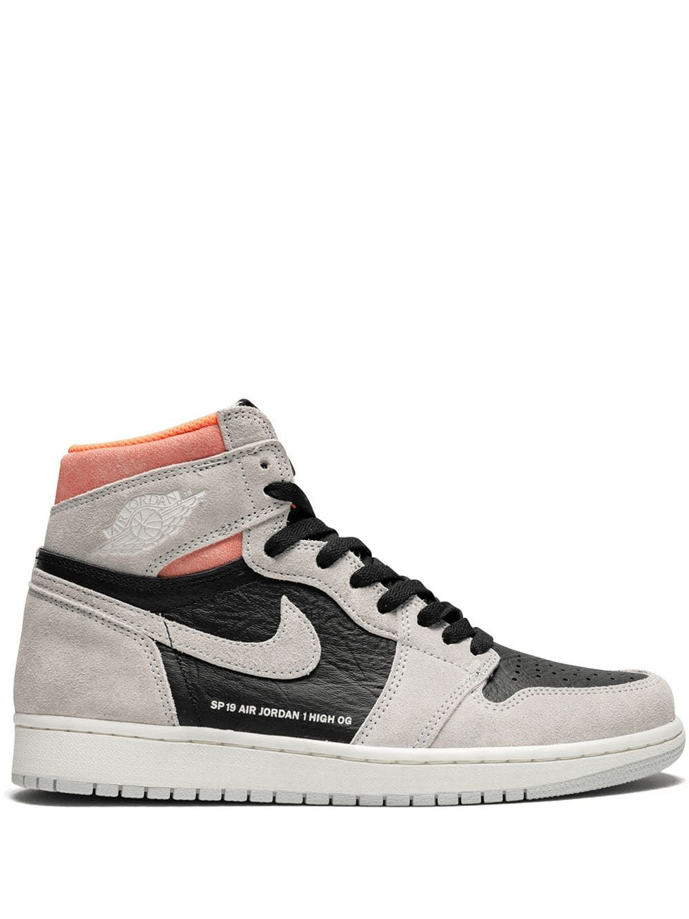 Jordan Air Jordan 1 Retro High OG Neutral grey/hyper Crimson ...