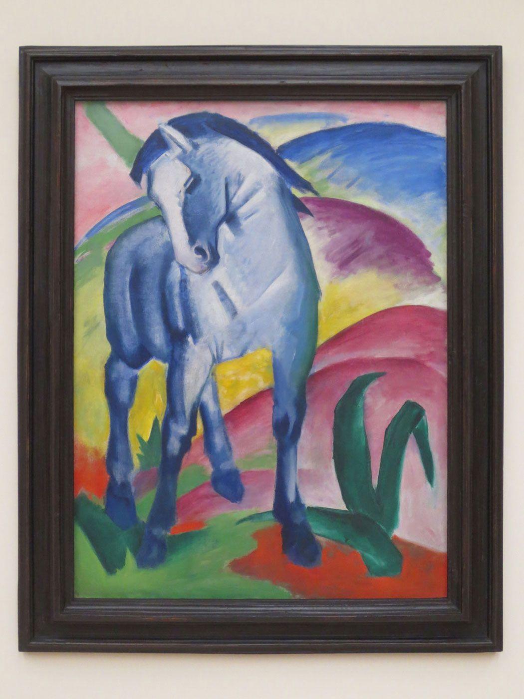 Franz Marc, Blaues Pferd I, 1911 #franzmarc #blauespferd #bluehorse #blauerreiter #expressionismus #expressionism #modernart
