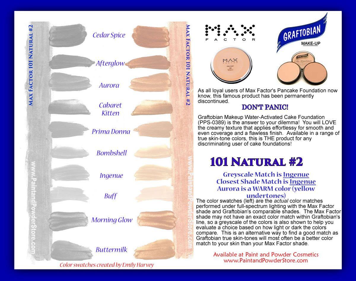 Max Factor Pancake Makeup Color Chart Saubhaya Makeup