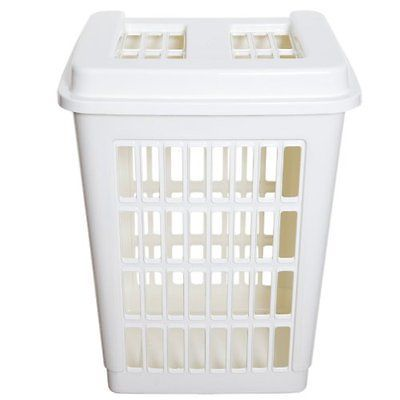 Tall Plastic Laundry Basket Entrancing Cream Plastic Rectangular Laundry Basket Hamper Washing Tall Bin Review