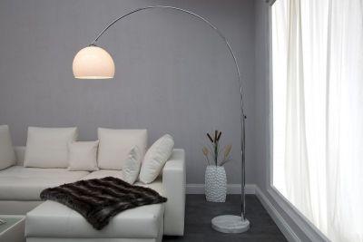 Qubo-Design Stehlampe Bogenlampe LUNAR Weiss 175-205cm @Qubo-Home #lights #lampen #design #Hamburg