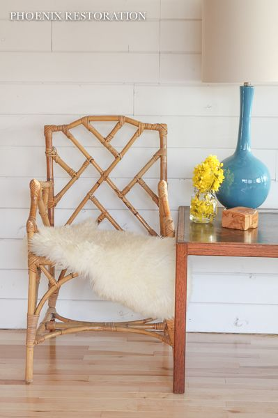 Vintage Natural Bamboo Armchair {by : Phoenix Restoration}