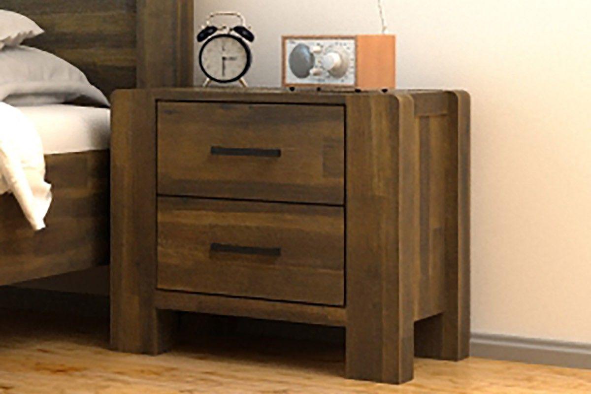 Best Chester Solid Wooden 2 Drawer Bedside Table Teak Wooden 640 x 480