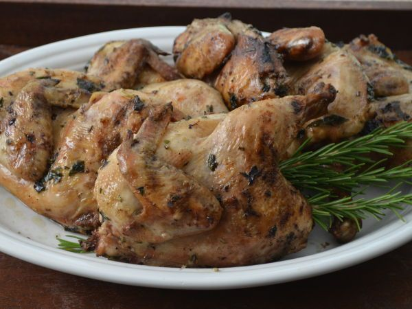 Recipe Grilled cornish hens with herbs by Smellofrosemary - Petitchef