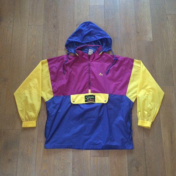 43a8590c35484 Vintage 80's Puma Pac-lite Rain Mac - Sports jacket WATERPROOF ...