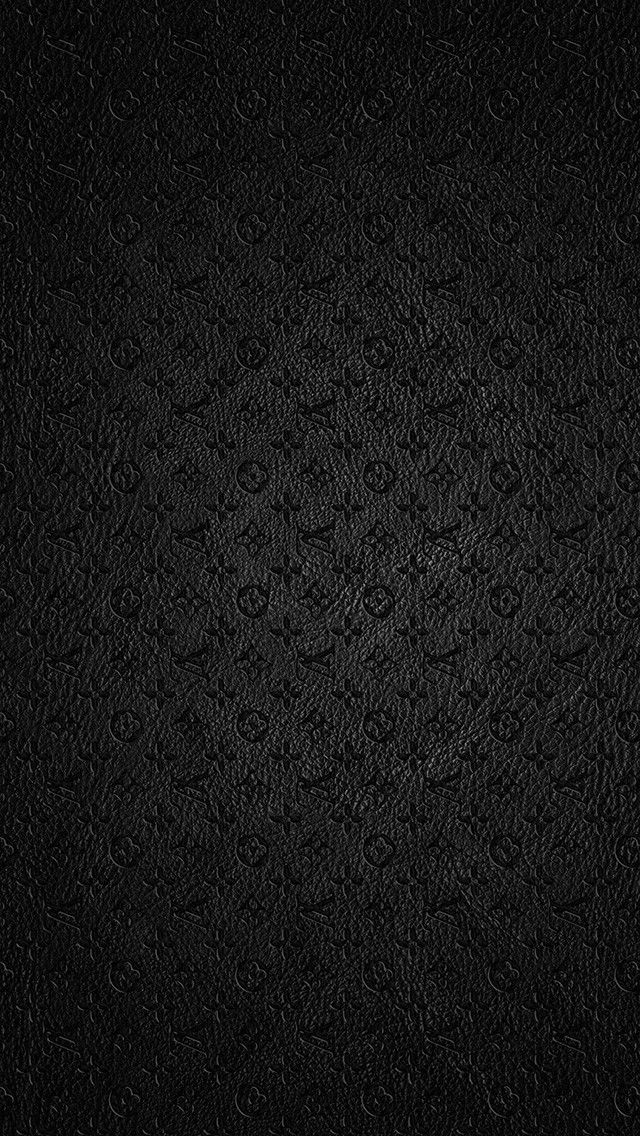 Louis Vuitton Dark Leather Texture Pattern Android iPhone
