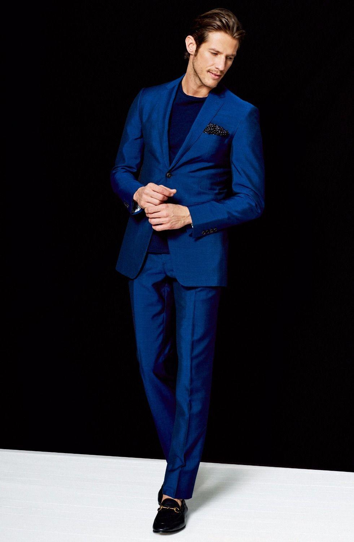 Latest Coat Pant Designs Royal Blue Men Suit Slim Fit 2 Piece Blazer ...