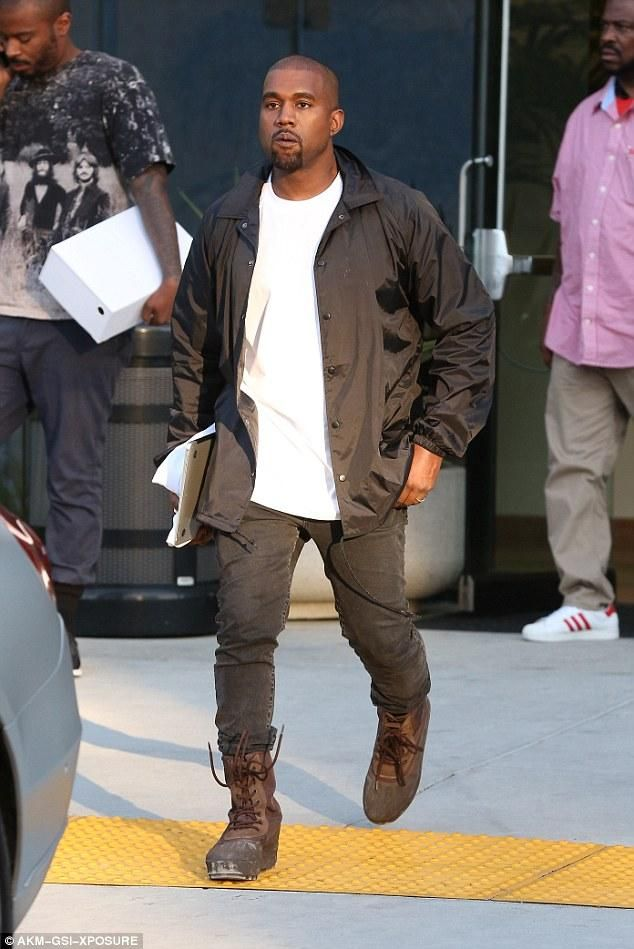 b61512b94e9 Kanye West wearing Acne Studios Ace Used Cash Slim-Fit Jeans