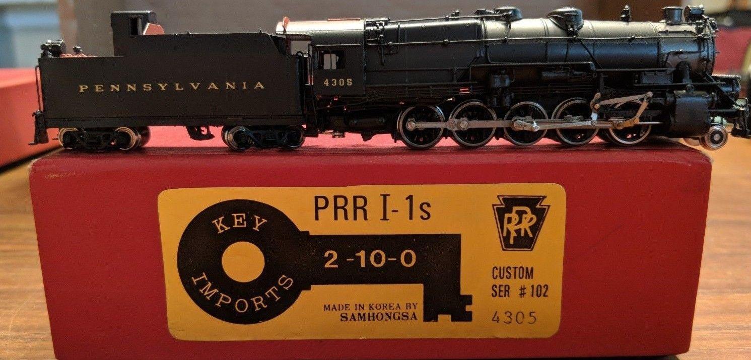 N Scale Key Imports Brass Pennsylvania Railroad I1s 4305