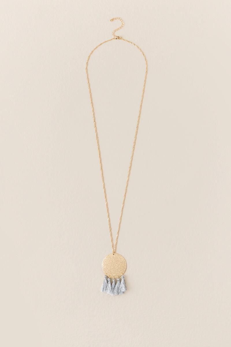 Katerina Tassel Pendant Necklace