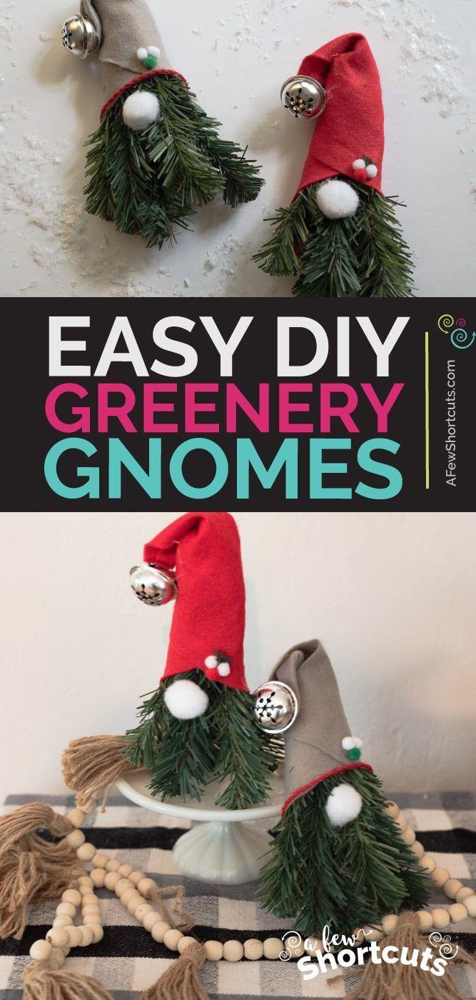 DIY Greenery Christmas Gnomes (With images) Diy